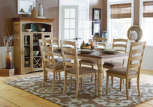 Buttermilk Burnish Oak Dining Table Set