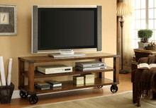 Fort George Transitional Dark Oak Weathered TV Console