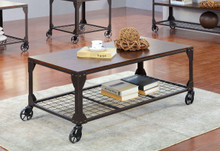 Industrial Wood Metal Coffee Table