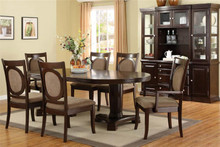 Evelyn Oval Dark Walnut Dining Table | Oval Dining Table