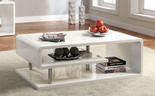 White Gloss Chrome Coffee Table