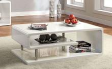 White Gloss Chrome Coffee Table