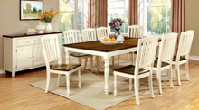 Vintage White Cherry Dining Table Set