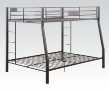 Black Extra Long Full Queen Metal Bunk Bed