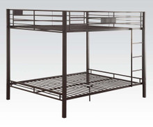 Black Queen over Queen Metal Bunk Bed