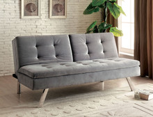 Split Back Fabric Futon Sofa Bed