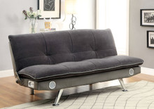 Fabric Gray Convertible Futon Sofa Bed
