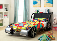 GTO Racer Gunmetal Silver Twin Car Bed