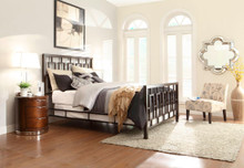 Zelda Brushed Brown Metal Bed | Metal Beds