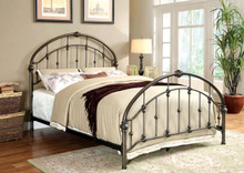 Brushed Bronze Rope Knot Metal Bed