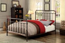 Dark Bronze Sleigh Metal Bed