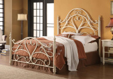 Egg Shell Finish Metal Headboard & Foot Board
