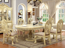 Antique White Formal Dining Table Set