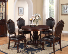 "48"" Cherry Round Pedestal Dining Table Set"