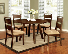 Dwight 5 PC Dark Oak Round Dining Table Set