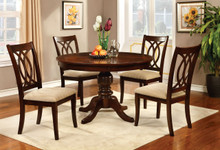 Carlisle Brown Cherry Round Dining Table Set