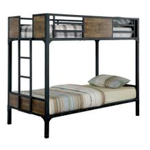 Austin Industrial Inspired Metal Twin Bunk Bed | Industrial Bunk Beds