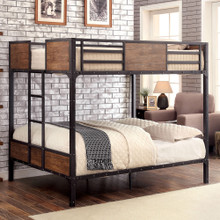 Austin Industrial Inspired Metal Full Size Bunk Bed | Full Bunk Beds
