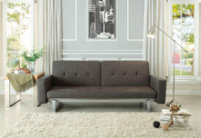 Crispin Dark Gray Fabric Convertible Sofa Bed