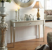 Shannon Silver Finish Console Table | Mirrored Console Table