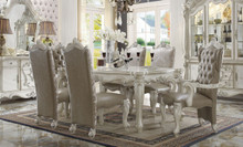"71"" Majestic Antique Bone White 7pcs Dining Table Set 