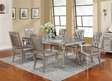 Coaster 106471 Danette Platinum Wood Dining Table Set | Formal Dining Table