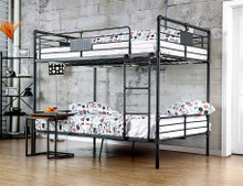 Xavier Industrial Piping Metal Full Bunk Bed