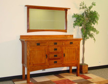 Mission Hills Cherry Oak Finish Sideboard | Mission Sideboard