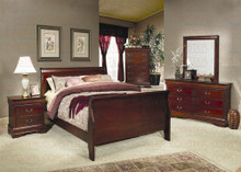 Cherry Traditional Louis Philippe Queen Bed