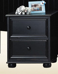 Black Two Drawer Night Stand
