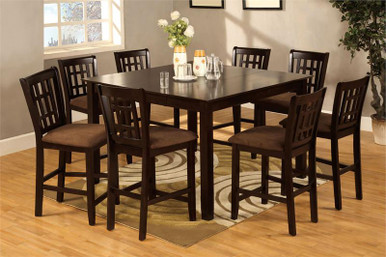 Eleanor Espresso Counter Height Table & Chairs