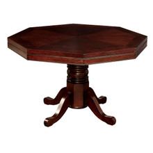 Vegas Octagonal Cherry Dining Game Room Table | Game Table