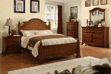 Palm Coast Cherry Oak Queen Bed