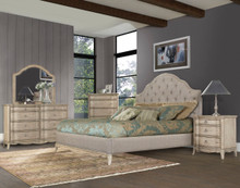 Ashden Driftwood Upholstered Fabric Bed by Homelegance | Upholstered Bed