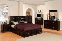 Yorkville Espresso Queen Platform Bed with Drawers