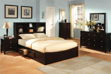 Brooklyn Espresso Queen Platform Bed with Drawers