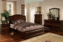 Brunswick Dark Walnut Queen Platform Bed