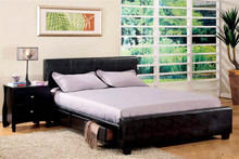 Editing: Burlington Espresso Leatherette Platform Queen Bed w/ Drawers