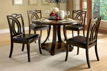 Keukenhof Round Dark Oak Dining Table Set