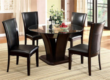 Manhattan Round Glass Dining Table with Chairs