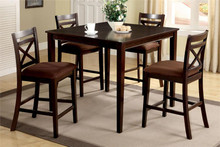 Weston II Square Espresso Counter Height Set