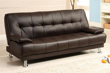 Beaumont Dark Brown Leatherette Futon Sofa Bed