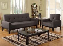 Laporte Charcoal Futon Sofa Bed