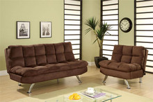 Cocoa Beach Chocolate Brown Futon Sofa Bed