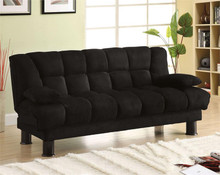 Bonifa Black Microfiber Futon Sofa Bed