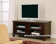 Wide Cappuccino LCD Plasma TV Stand