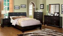 Villa Park Espresso Leatherette Platform Bed