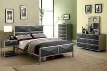 Largo Silver Dark Gray Full Metal Bed