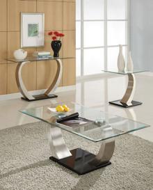 Alena Modern Chrome Glass Coffee Table
