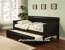 Twin Black Day Bed With Under Bed Trundle